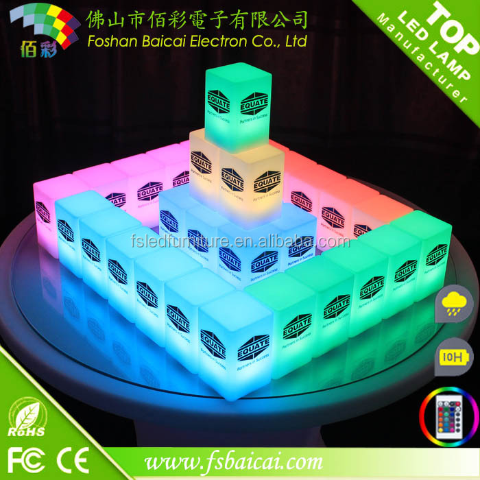 Glowing Led Bar Furniture Used Nightclub Remote Control Battery Colorful LED Magic Cube