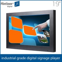 19 inch Indoor wall mount touch screen lcd advertising digital signage