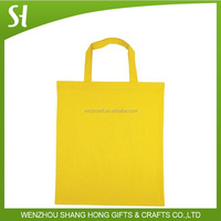 yellow shopping bag logo/disposable shopping bag