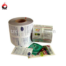 custom printing food film black and white poly film