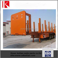 container loading logs semi trailer with sticks and container lock