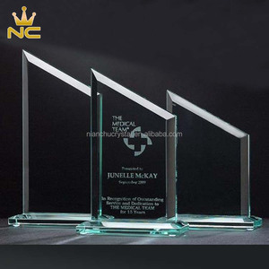China Manufacturer Crystal Cheap Jade Summit Blank Glass Awards For Corporate Gifts