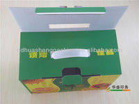 Good quality Customized plastic handles corrugated packing boxes