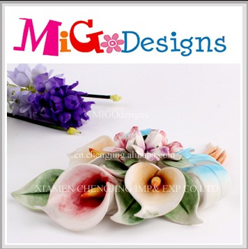 Wholesale Direct Factory Produce Art Decor Artificial Ceramic Flowers