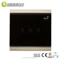 Hot Sell High-end Three Gang Wifi Switch Touch Electrical Dimmer,Wifi Wall Switch,Wifi Switch
