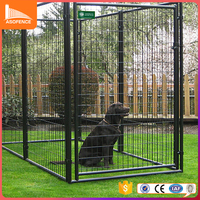 Large outdoor chain link dog kennels & dog cages & dog runs dog fence