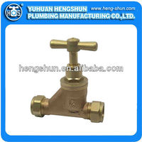 Forged bronze stop valve CXC with compression ends HS-SV5003