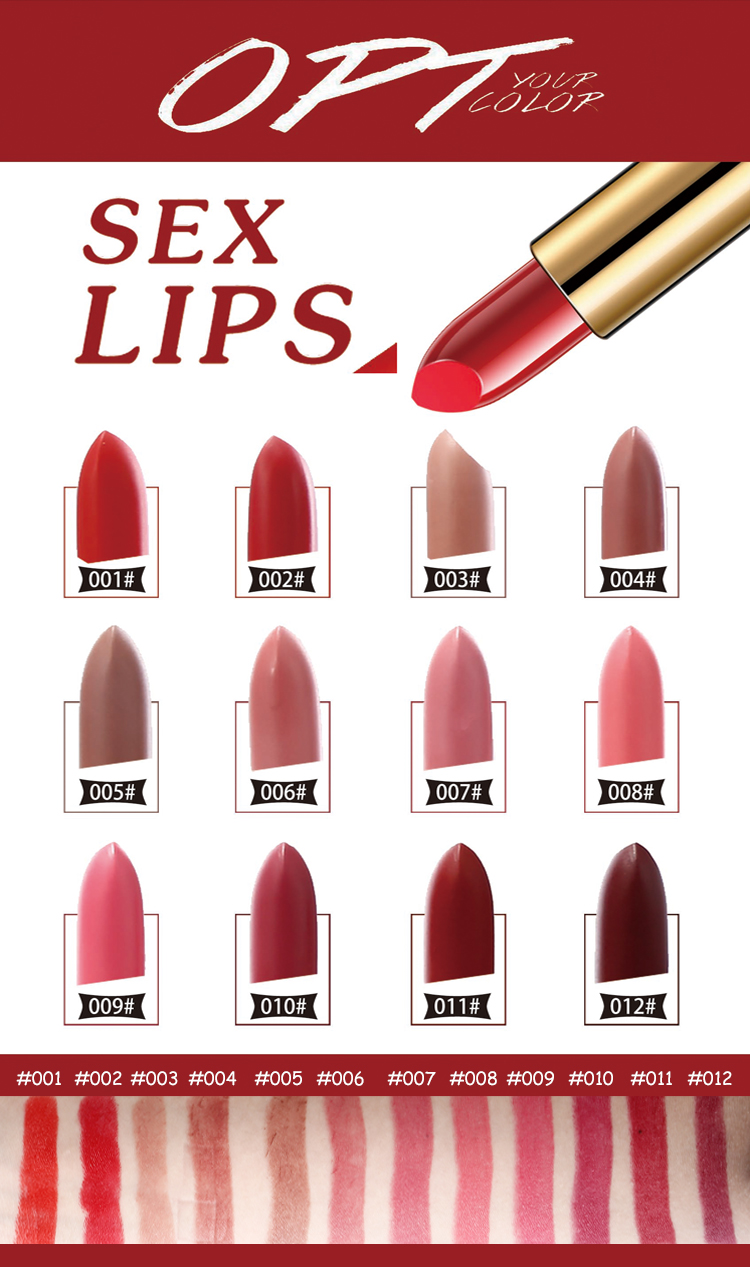 18 hour waterproof lipstick matte make your own lipstick tube OEM