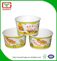 Recyclable Healthy Food Grade PE Coated Takeaway Paper Salad Bowl