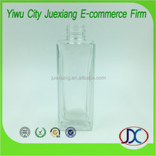 square high quality perfume and diffuser glass bottle