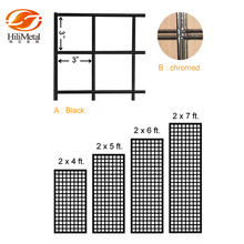 Grid panel metal wire display rack for gridwall hanging hook