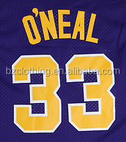 LSU University Shaquille O'Neal #33 Purple College Basketball Jerseys