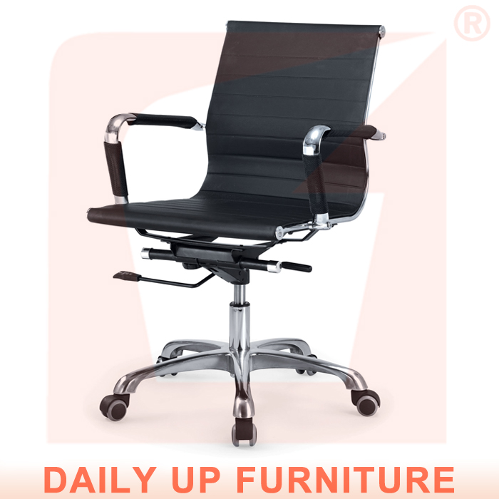 Imitation Leather Office Chair Senior Work Computer Chair Specifications Thicker Padded Meeting Room Chair with Arm