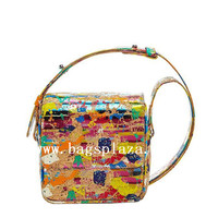 Trendy women handbag custom made painting handbag vietnam handbag 2016
