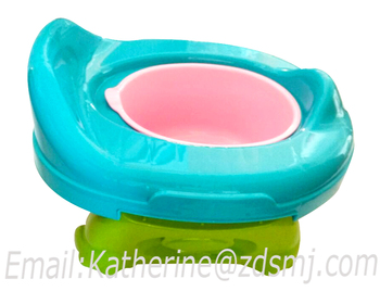 Baby travel foldable potty chair 2 in 1 seat kids eco-friendly stool PP portable toilet seat assistant