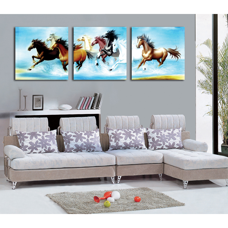 Wholesale modern abstract horse paintings art on canvas