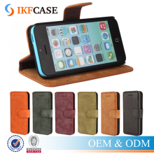 Wholesale Premium Genuine Leather Case For Apple iPhone 5C Wallet Cell Phone Case