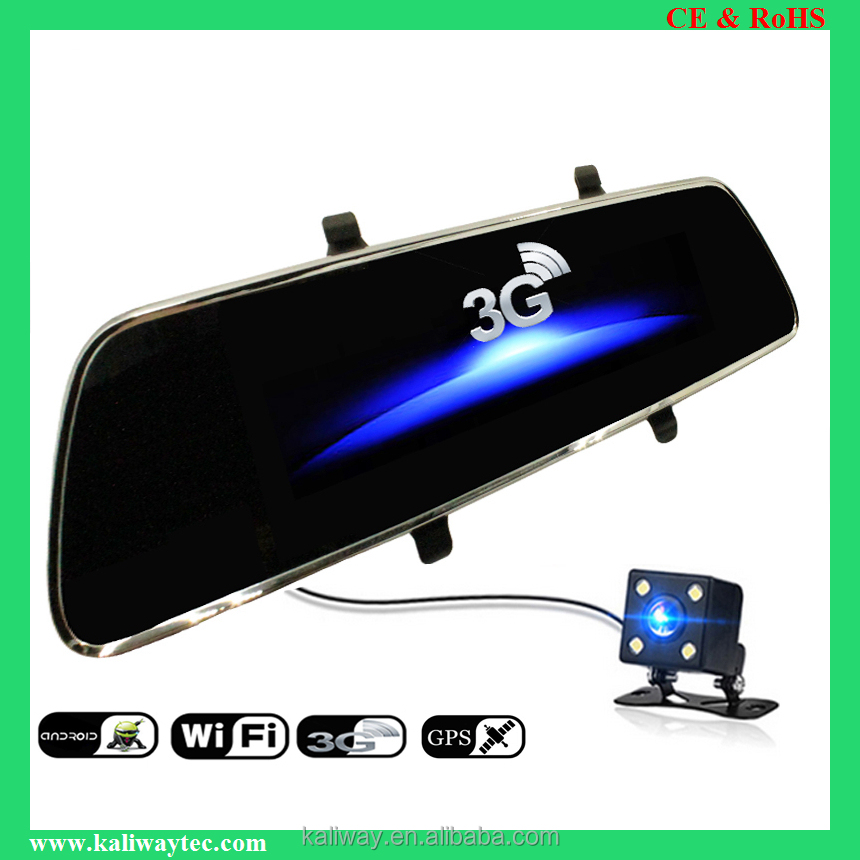 Driving Record Camera with Rear Camera, OUTAD Full HD 1080P Car DVR Camera Auto 5 Inch Rearview Mirror Digital Video Rec