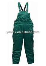 High visibility 100% cotton fire retardant trousers for men
