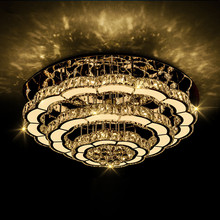 Crystal lamp led living room lights round ceiling lamp modern luxury simple bedroom crystal lamps