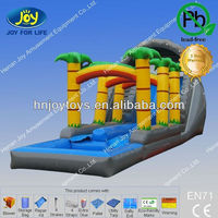 Palm tree water slide, jungle water slide,children inflatable pool with slide