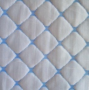 Jacquard Knitted Cooling Fabric for Mattress Protector, 44% Cooling, 56% Polyester