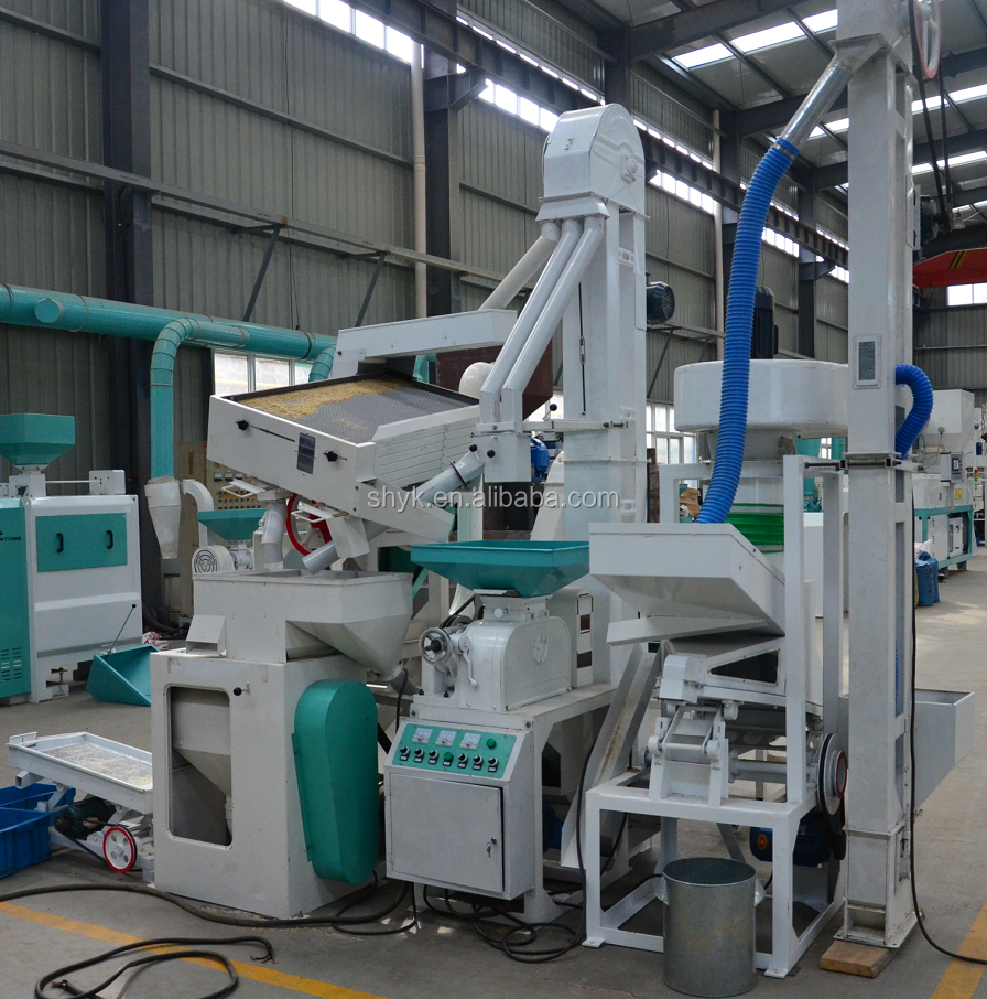 Auto small combined rice mill