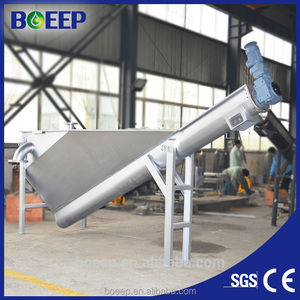 Sewage treatment plant Spiral type sand water separator