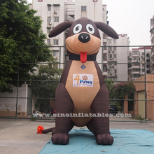 Giant outdoor advertising inflatable dog with custom printing logo with lead free oxford nylon material