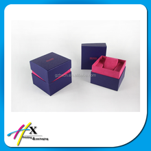 Multiple Color Choices Paper Watch Packaging Box With Pillow