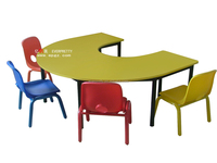Wholesale School Furniture Hand Painted Party Kids Study Tables and Chairs for Sale