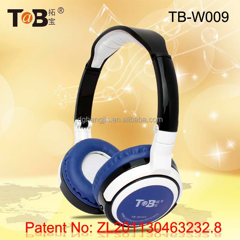 Wireless earmuff FM AM radio and mp3 player folding headphones / headsets with TF / MicroSD card TB-W009