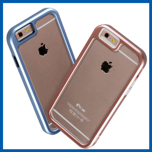 C&T Hybrid Bumper Crystal Clear Protective Case with Clear Back Panel for Apple iPhone 6S Plus