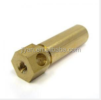 custom CNC Machining Hex Screw Terminal or Stud, Made of Brass, Suitable for Electronic Products