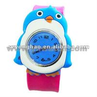 vivid bird shape promotion silicone watches kids, cheap silicon watches