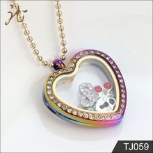 High Quality Colorful Heart Shaped Photo Frame Pendant