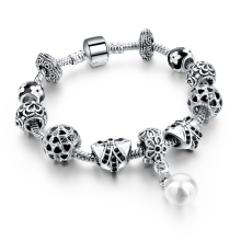 High quality glass bead bracelet ,Best gift for Ladies mom charm bracelet