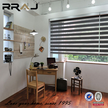 RRAJ 100% Polyester zebra blinds double layer roller