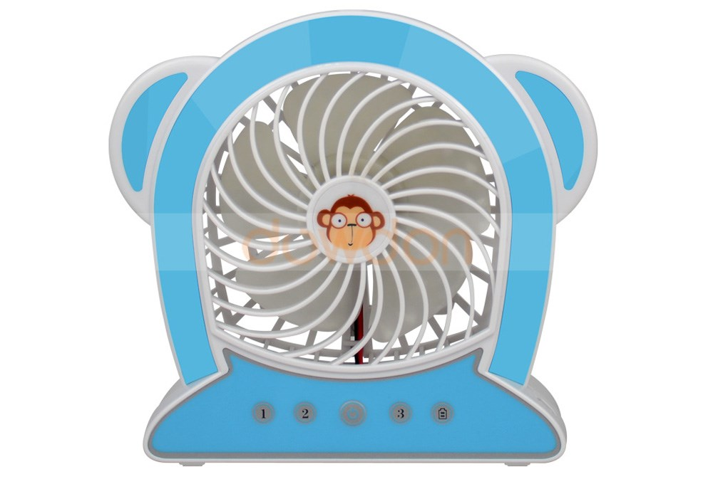Fashion Cartoon Monkey Shape Rechargeable Portable USB Mini Fan Sports Fan