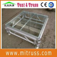 4ftx4ft aluminum frame stage with glass platform