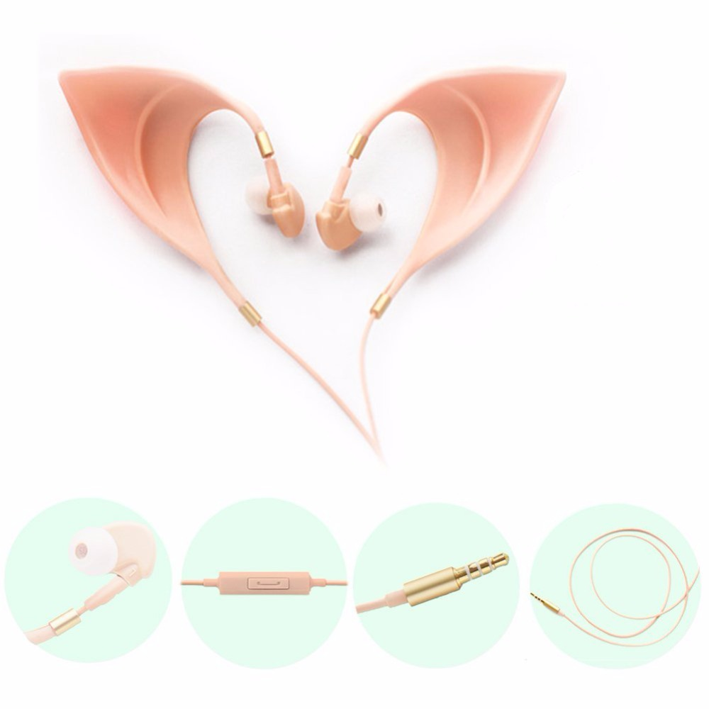 Elf Cute Earbuds Ultra-Soft Corded Earphone Fairy's Adorable Cosplay Headset Spirit Costume Accessory Toys