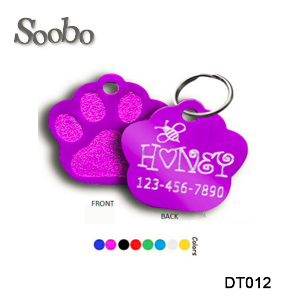 Custom different shapes promotional pet tag , metal dog tag