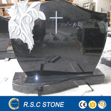 Cheap granite tombstone with cross