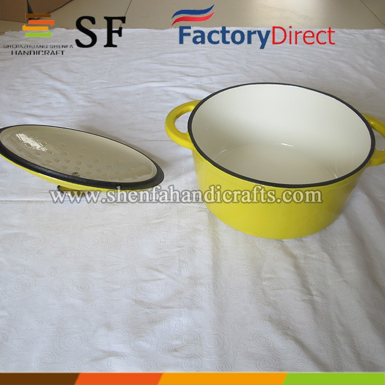 cast iron kitchenware use enamel boiling soup cookware