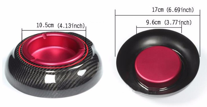 2016 New products Luxury Carbon Ashtrays , Carbon Fiber Ashtray for birthday gift