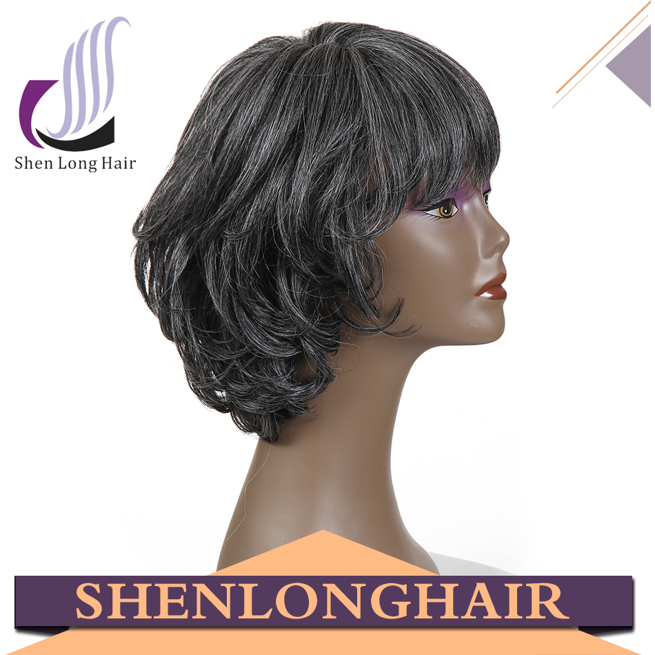lace front wigs short style grey synthetic hair wig ombre color free part french lace for wig making for black women