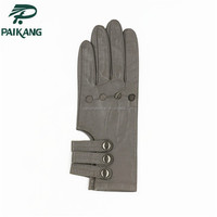Thin Style Comfortable Women Motorcycle Sports Genuine Leather Driving Gloves