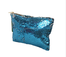 Osni wholesale custom Sequined ladies necessaries eco beauty fashion cosmetic bags personalized pouch clutch bag