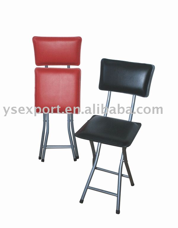 soft back and seat chair cheap folding chair Metal Tube Folding Chair
