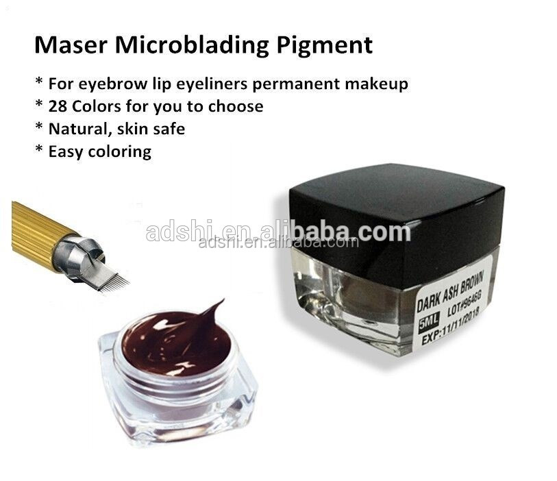 Microblading Pen with needles Permanent Makeup Pen Machine for Manual Eyebrow Tattoo (silver)